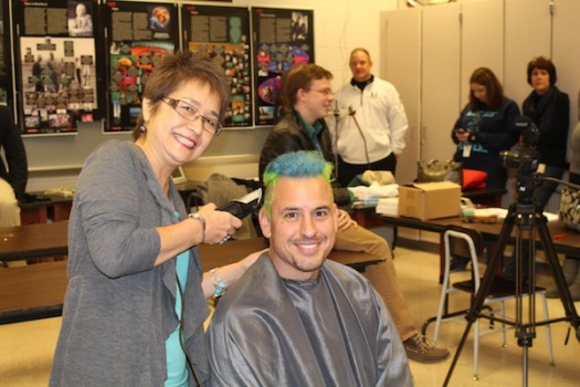 Students (and a teacher) cause Mr. Yonker's hair loss